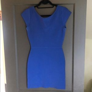 Blue BCBG bodycon mini dress